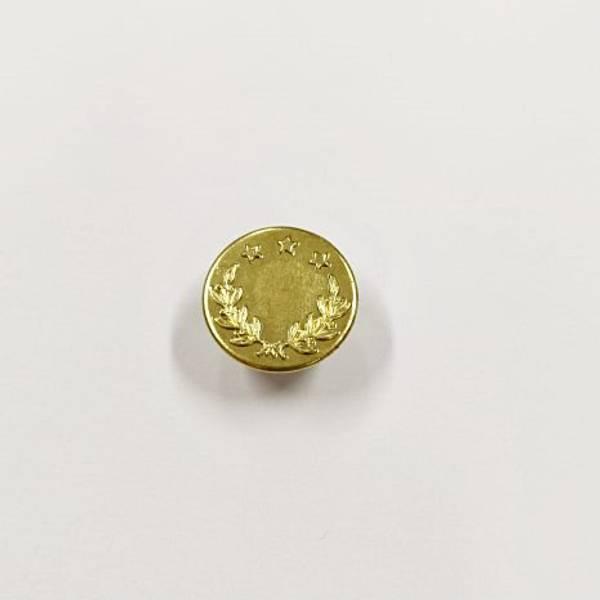 Bilde av Dongeriknapp, patentknapp, 17 mm, gull