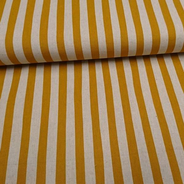 Bilde av 50 cm Sevenberry - currygul-linfargete 15 mm brede striper