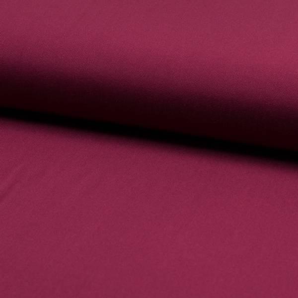 Bilde av Viskose twill ensfarget mørk bringebær