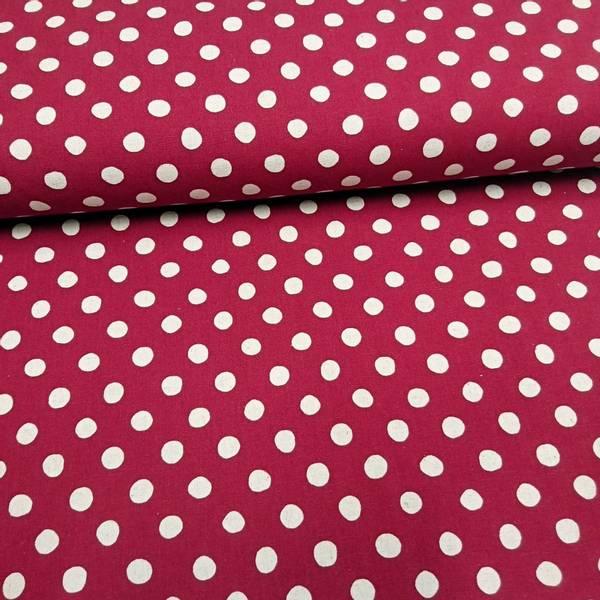Bilde av Sevenberry Kanvas - rød linfarget med 1 cm prikker
