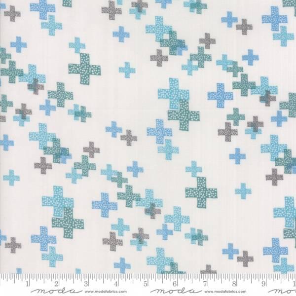 Bilde av Modern Background Colorbox - 15-30mm blå-turkis kryss på lysgrå
