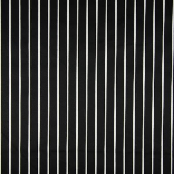 Bilde av Bomullsateng m stretch - sort-hvite striper