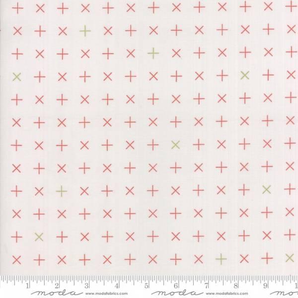 Bilde av Modern Background Colorbox - 1 cm rød kryss på lysgrå