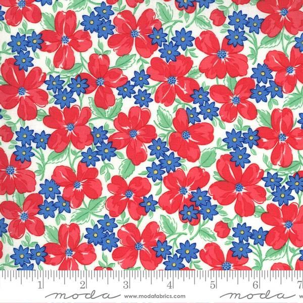 Bilde av 30's Playtime - 2-3,5 cm blomster rød-blå