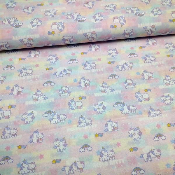 Bilde av Vevd bomull - Hello Kitty - 2 cm katt & enhørning