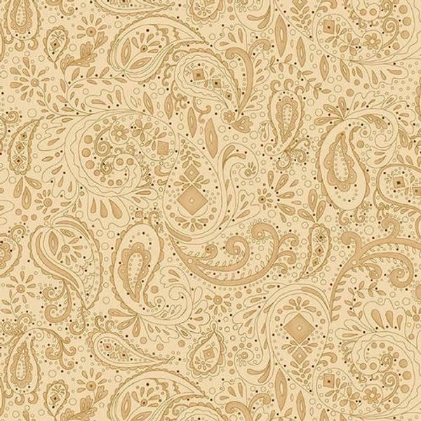 Bilde av Spiced 108in Quilt Back  - 3-7 cm paisleymønster på beige