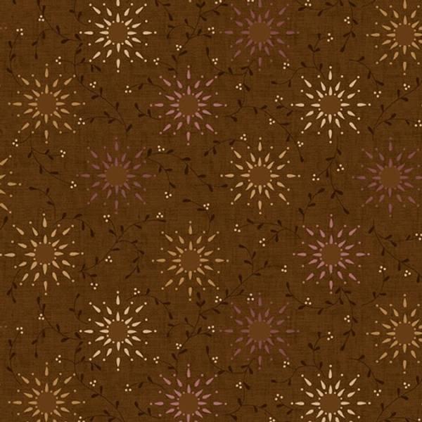 Bilde av Prairie Vine 108in Quilt Back - 25 mm sol-mønster på brun