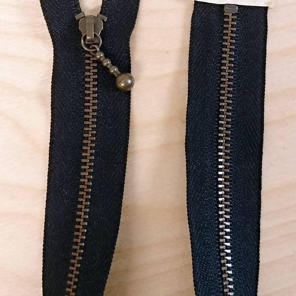 Bilde av Quilter's zipper, glidelås metall - sort, 14