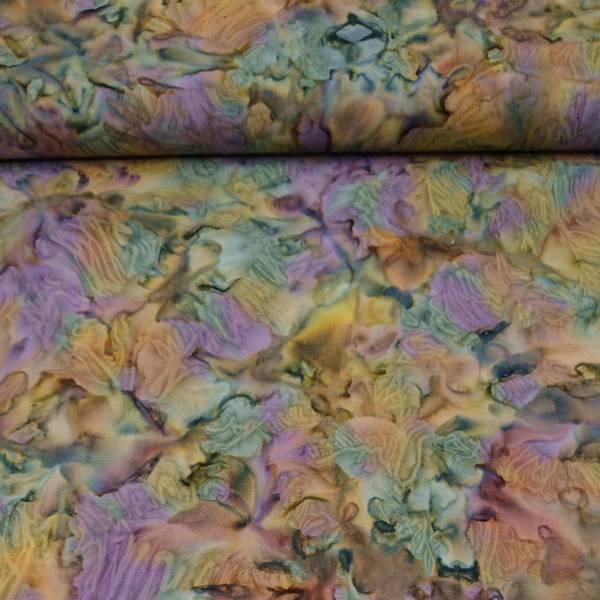 Bilde av Batikk - lilla-grønn-oliven mønstret