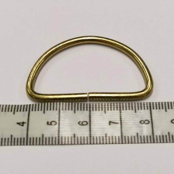 Bilde av D-Ring, gull, 4cm bred