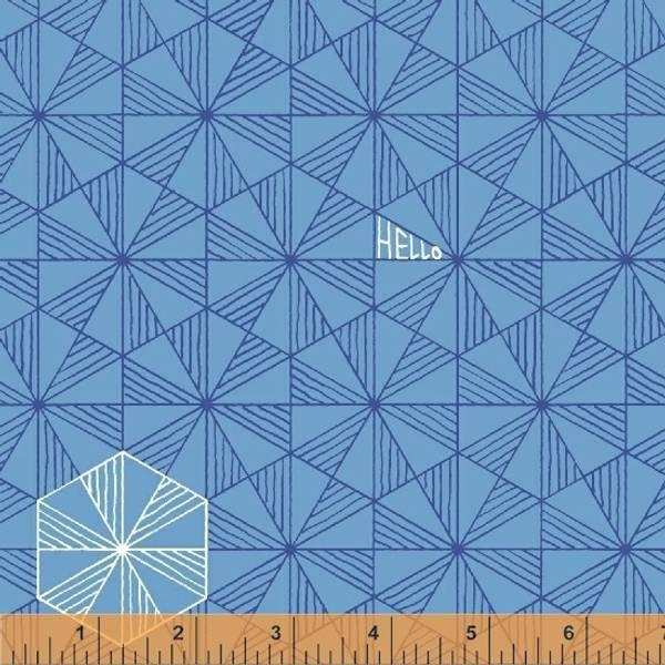 Bilde av Good Vibes Only - 2 cm trekanter på blå