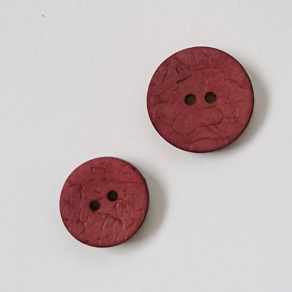 Bilde av Kokosknapp, 2 hull - rødbrun