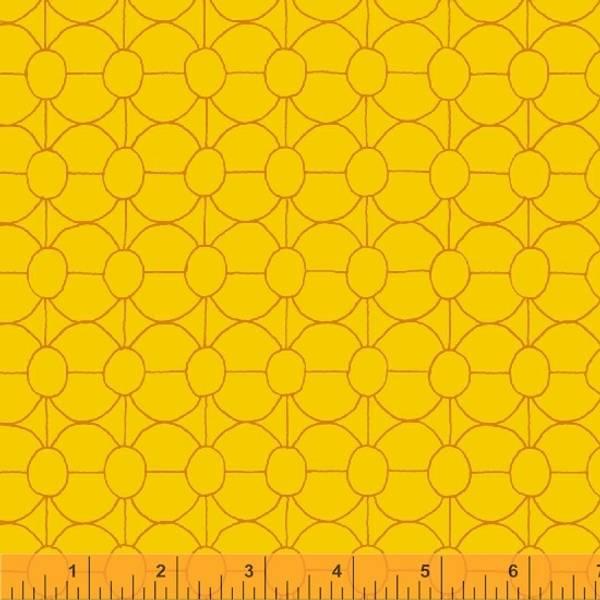 Bilde av Good Vibes Only - 2 cm rund mønster på guloransje