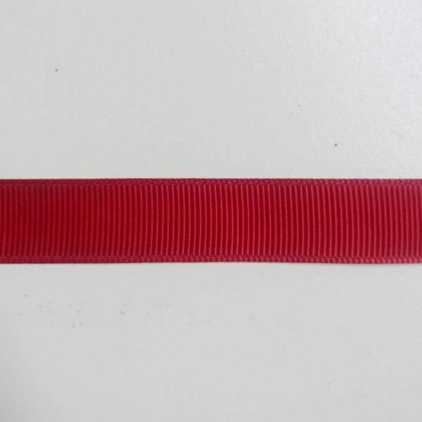 Bilde av 4 m Ripsbånd, 1,5 cm, mørkrød