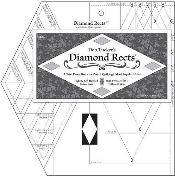 Bilde av Deb Tucker's Diamond Rects linjal - diamanter lett trimmet