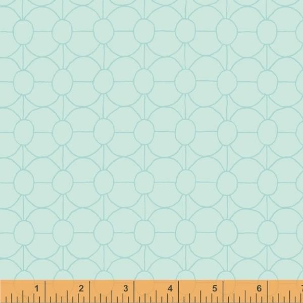 Bilde av Good Vibes Only - 2 cm rund mønster på lysblå