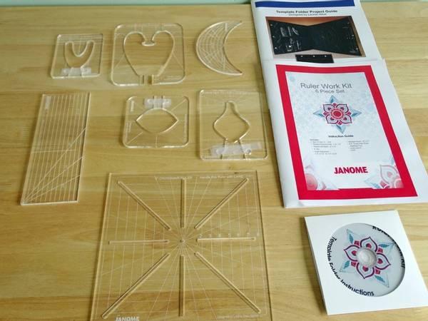 Bilde av Janome Ruler Work Kit 6 piece set - linjalquilting