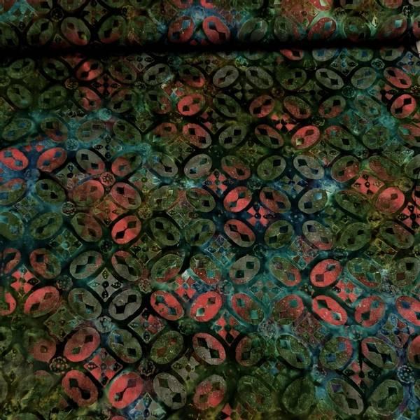 Bilde av Starburst - mørkgrønn m 4 cm rød-grønn mønster