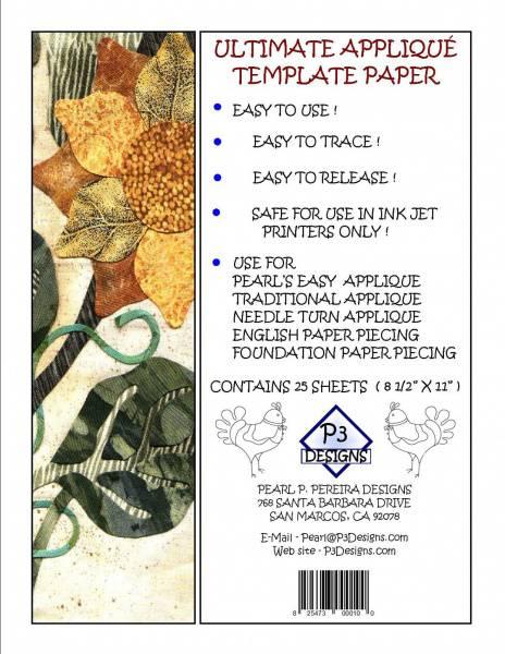 Bilde av P3Designs - Ultimate Applique Template Paper, 25 ark