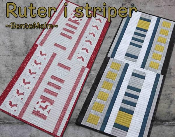 Bilde av Bente Malm 234 - Ruter i striper - løper