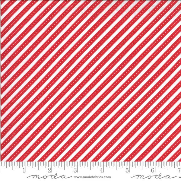 Bilde av On The Go - 5 mm rød-hvite diagonale striper