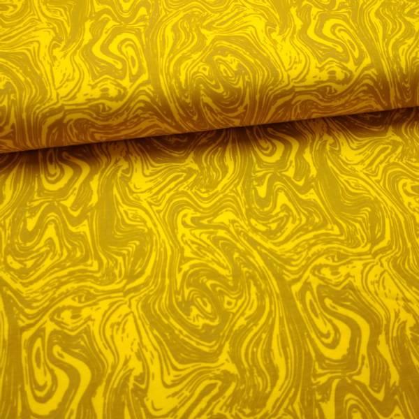Bilde av Bomullsjersey - Strukturmønster - gul-oker