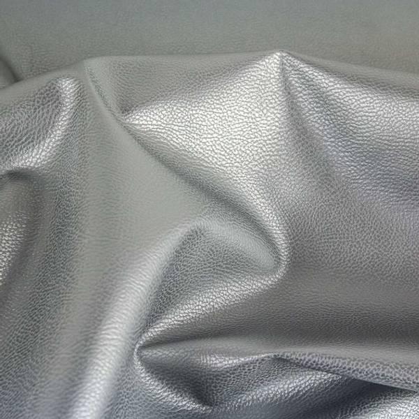 Bilde av Imitert skinn, metallic - sølv