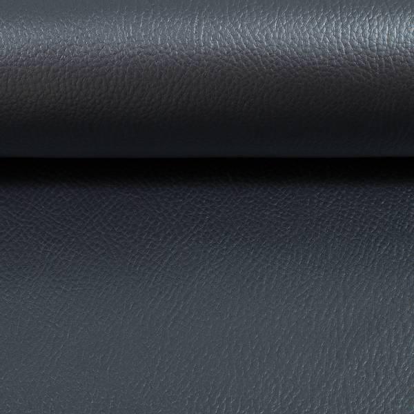 Bilde av Imitert skinn, metallic - gråblå