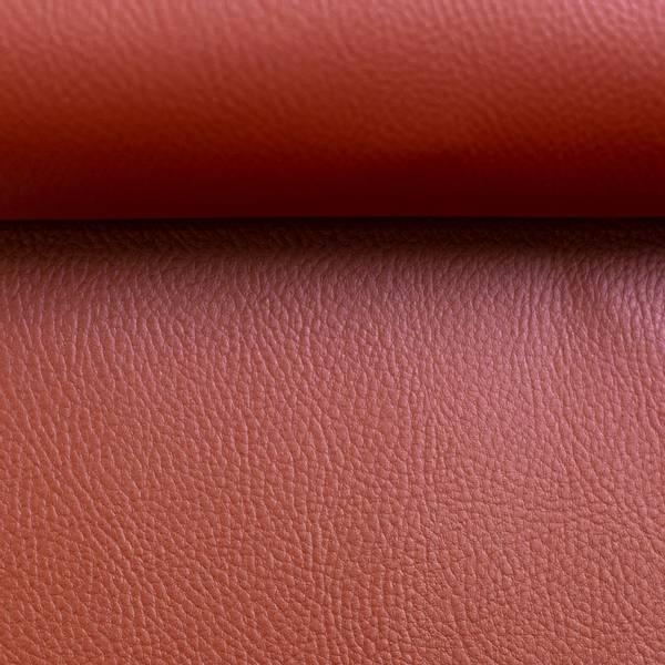 Bilde av Imitert skinn, metallic - oransjerød