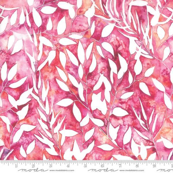 Bilde av 45 cm Brightly Blooming - 3 cm blader på rosa-oransje
