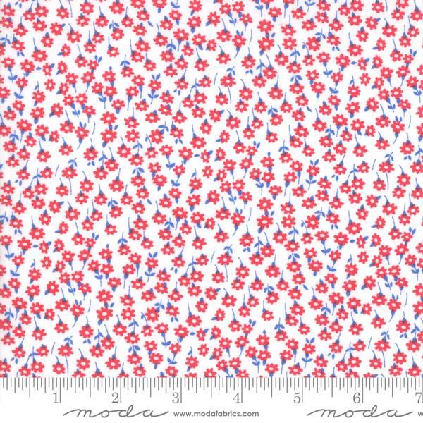 Bilde av 40 cm Back Porch - 5 mm røde blomster på hvit