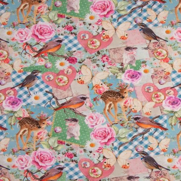 Bilde av Bomullsjersey - 10 cm bambi på patchwork