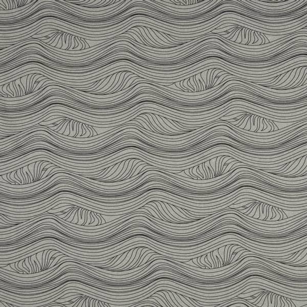 Bilde av Funksjonsjersey - sportjersey, sort bølgemønster på lysgrå