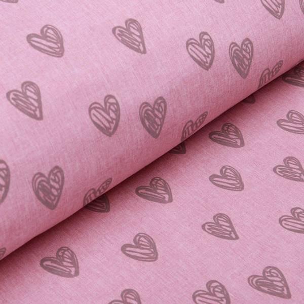 Bilde av Softshell refleks - 3 cm hjerter på rosa