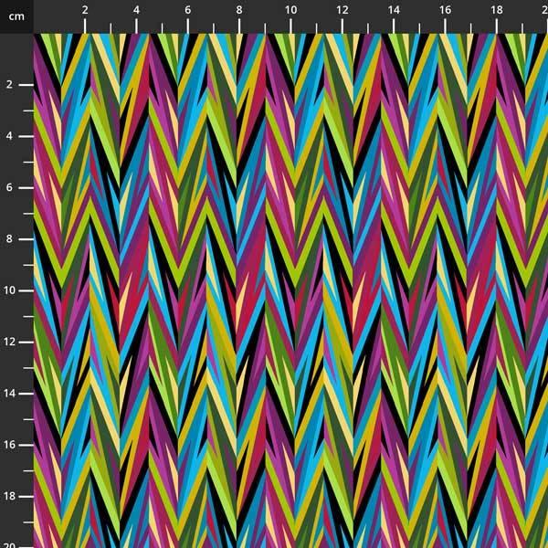 Bilde av Noble Menagerie - flerfarget 7 cm sikksakk