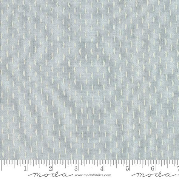 Bilde av French Sashiko Wovens - lysgrå grov vevd m hvit