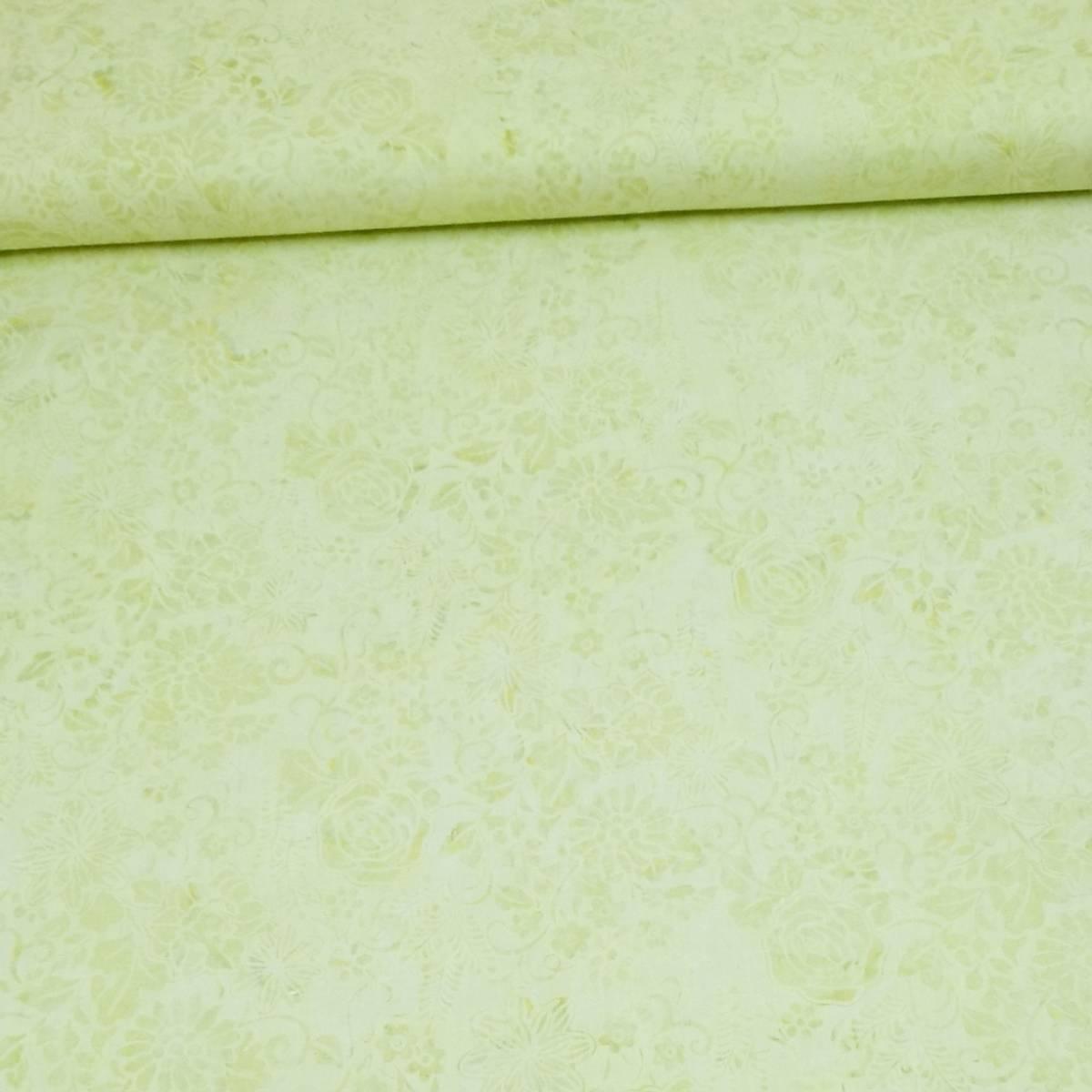 Batikk - lys lime m 5 cm blomster & ranker