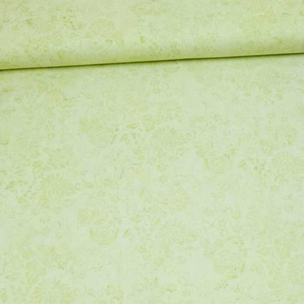 Bilde av Batikk - lys lime m 5 cm blomster & ranker