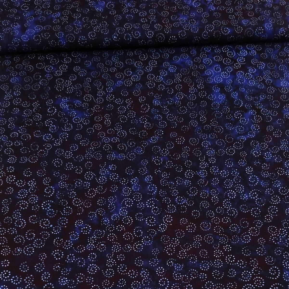 Batikk - 2 cm prikkete snirkler på marine