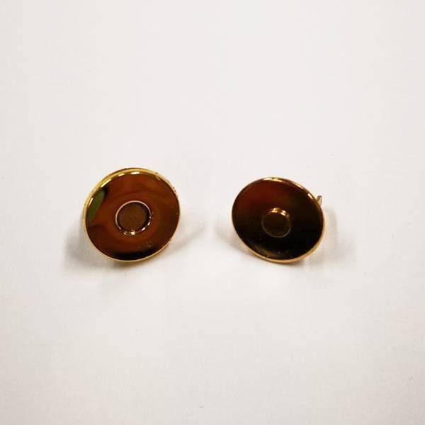 Bilde av Magnet knapp, gull tynn, 1,5cm