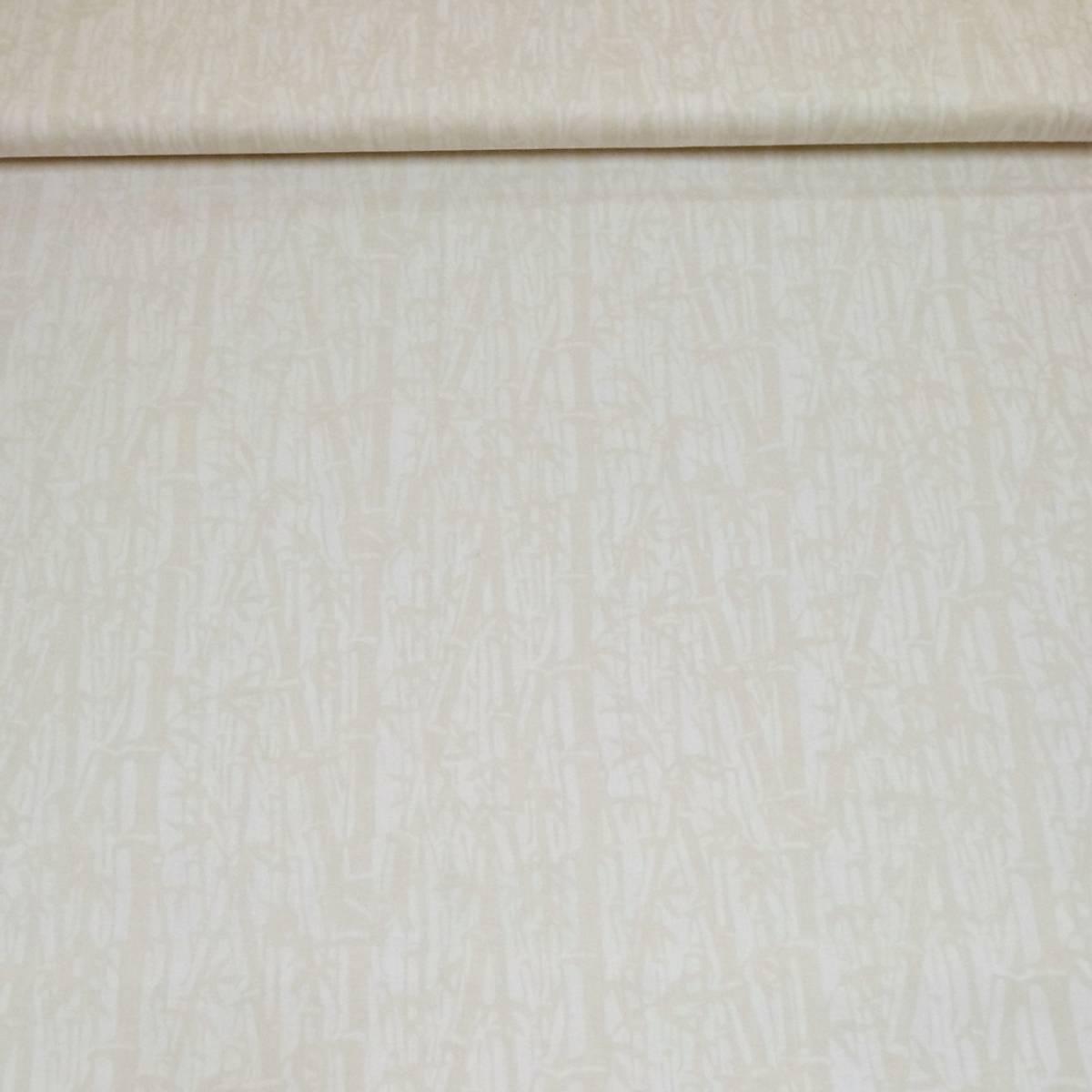 Batikk - bambusmønster egghvit-offwhite