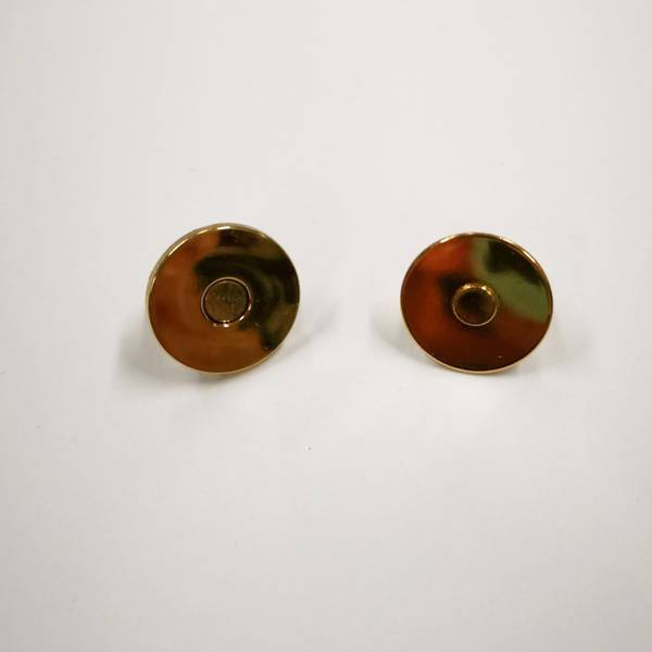 Bilde av Magnet knapp, gull tynn, 2cm