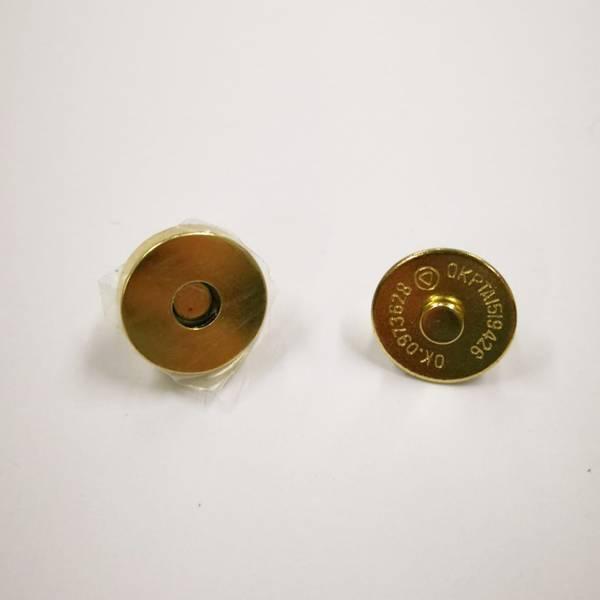 Bilde av Magnet knapp, gull tykk, 2cm