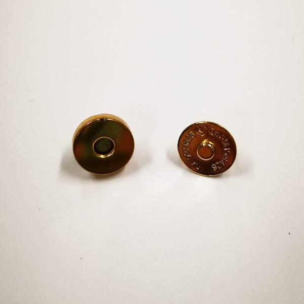 Bilde av Magnet knapp, gull tykk, 1,5cm