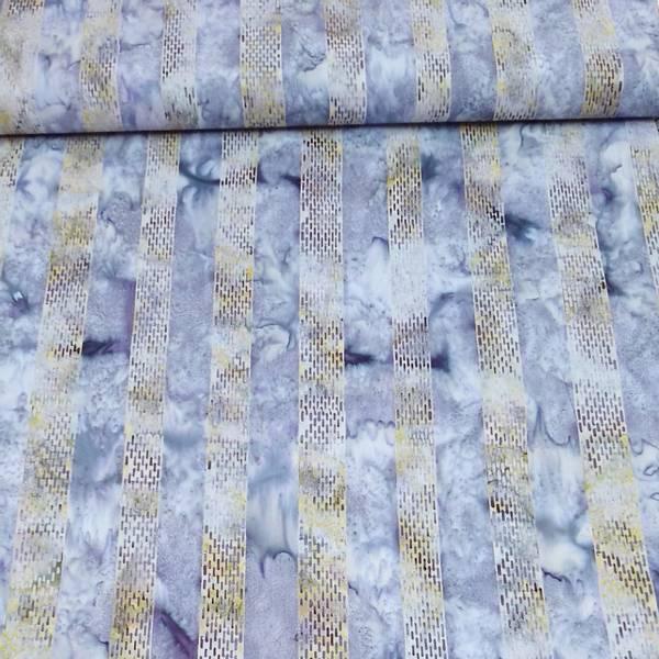 Bilde av Batikk - 3 ,5 cm striper - lys lime/lys lilla