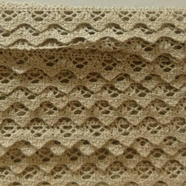 Bilde av 3,9 m Heklet blonde, bomull, 2 cm, linfarget