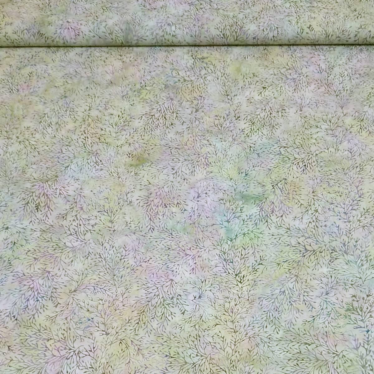Batikk - ca 8 cm ranker på pastell grønn-blå-lilla