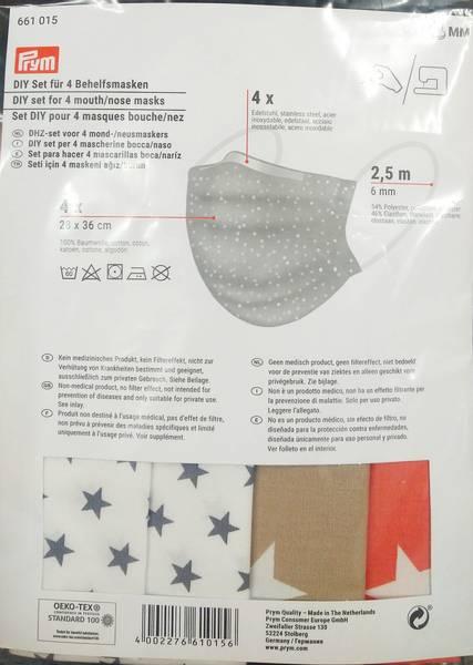 Bilde av Prym - munnbind - gjør det selv - materialpakke til 4 st