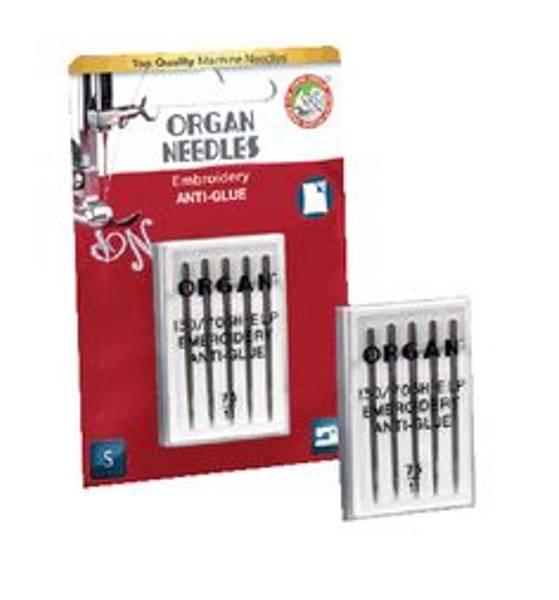 Bilde av Organ symaskinnål - Embroidery Anti-Glue, 5st, 75/11