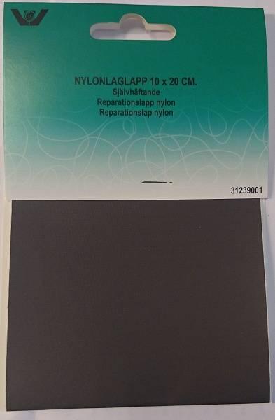 Bilde av Reparaturlapper - selvklebende - nylon, 10 x 20 cm stor, mørkgrå